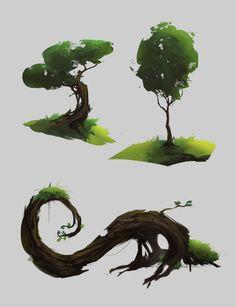 The concept of art _ _ _ design _2D_yeah_dei_Photoshop_ magic conceptual art illustration _ _ _ tree _ fantasy props _vegetation_ works ID: 453520_ HD CG illustration, original painting download _ one thousand net 588art.com Videos