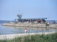 Hafengebäude Glowe - Insel Rügen - nur wenige Minuten von unserem strandnahen Ferienhaus Arkona entfernt.