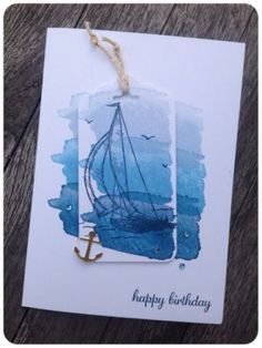 Maritime Birthday Card using Stampin