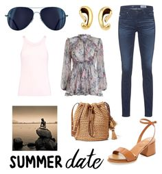 """""""Contest: summer date"""" by dtlpinn on Polyvore featuring Tod's, Zimmermann, AG Adriano Goldschmied and Majestic"""
