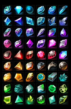 Buy RPG Gems Icons by a-ravlik on GraphicRiver. The set includes 100 gems icons . There are transparent PNG. Digital Painting Tutorials, Digital Art Tutorial, Art Tutorials, Concept Art Tutorial, Digital Paintings, Drawing Tutorials, Weapon Concept Art, Game Concept Art, Prop Design