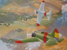 Polikarpov I-16, all'attacco di una formazione di Junkers Ju-52.