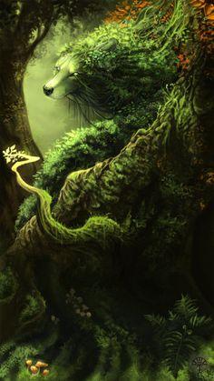Tree wolf... artist?