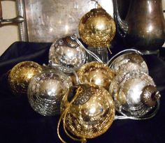 AFTER CHRISMAS SALE Crackle Glass Ornaments by tawnystreasures, $18.00