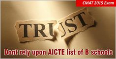 """CMAT 2015 scores for admission in management programmes for 2015-16 can be viewed by clicking on the below link AICTE approved institutions using CMAT scores"""
