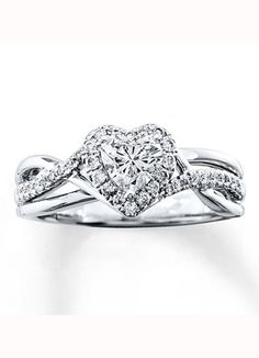 Kay Jewelers Heart-Shaped Engagement Ring