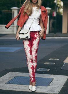 Isabel Marant tie dye skinny jeans.