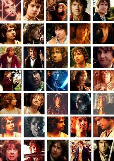 The Hobbit ... The many wonderful faces of Martin Freeman as Bilbo Baggins ~~Made a board for the second Hobbit movie: Desolation of Smaug!! Thanks for following~~Heather Sondreal :)