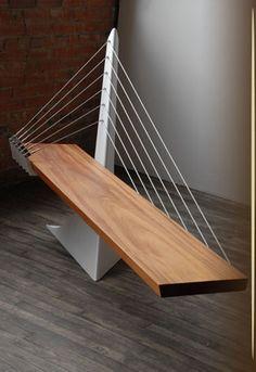 Green summit studio-architectural bench sculpture