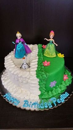 Half & Half Frozen Cake