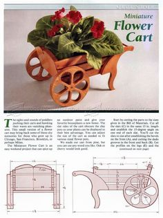 #1433 Miniature Flower Cart Plan - Woodworking Plans