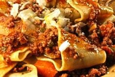 Rao's Pappardelle With Hot Sausage Sauce from The Hopeless Housewife
