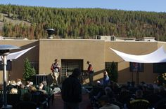 ThinkAbout Keynote Backdrop....cool view in Rockies