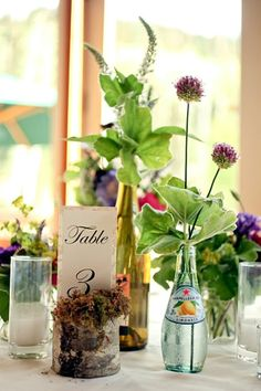 Rustic Inspired Table Centerpiece for Wedding Reception
