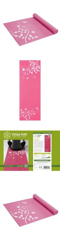 Dragonfly Hydrangea Print Yoga Mat (3mm)