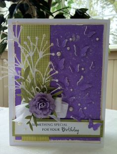 Memory Box Products Used: Beach Sprig Die #98898 Peaceful Butterfly Wings Die #98880 Large Olive Branch Die #98797 Something Special Combo Stamp #B1851