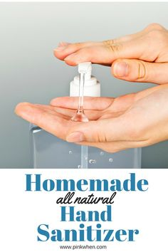 Easy homemade hand sanitizer. Make little bottles and keep them everywhere if you are a germaphobe like I am!