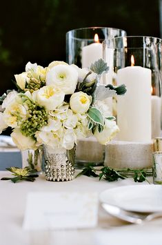 Mercury-Glass-and-Candle-Centerpiece