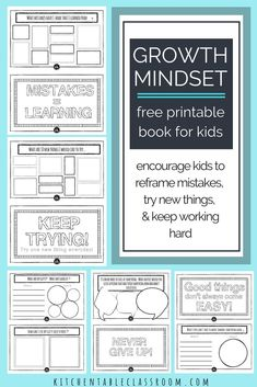 free Art therapy activities The growth mindset is one of the most encouraging perspective changes out there! Check out this free printable book about growth mindset for kids! Growth Mindset Book, Growth Mindset For Kids, Growth Mindset Activities, Leadership Activities, Art Therapy Activities, Writing Activities, Group Activities, Teaching Strategies, Teaching Ideas