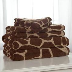 Divatex Animal World Giraffe 100% Cotton 6 Piece Bath Towel Set Giraffe Room, Giraffe Decor, Giraffe Art, Cute Giraffe, Elephant, Bath Towel Sets, Bath Towels, Wild Life, Spirit Animal
