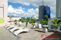 Diamond Suites and Residences Photo Tour Cebu, Outdoor Furniture, Outdoor Decor, Sun Lounger, Tours, Spaces, Diamond, Home Decor, Chaise Longue