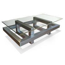 Mesa de centro / moderna / de metal / de hierro