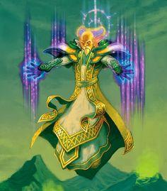 Hearthstone Card Artwork for Temple Enforcer - Daren Bader