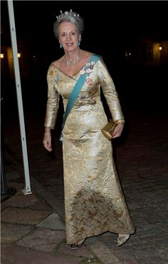 Princess Benedikte of Denmark seen here upon arrival at Fredensborg Palace.
