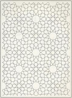 Pattern in Islamic Art - BOU 118 moorish arabesque moroccan muslim geometric tile design #islamicart
