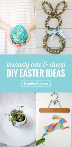 Find out how to brighten up your holiday decorations with these Insanely Cute and Cheap DIY Easter Ideas! Find out how to brighten up your holiday decorations with these Insanely Cute and Cheap DIY Easter Ideas! Savings Planner, Budget Planner, Saving Ideas, Money Saving Tips, Money Tips, Save Your Money, How To Make Money, Cheap Gifts, Diy Gifts