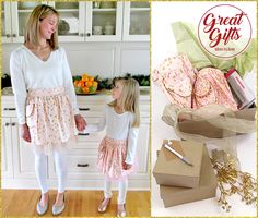 Mother-Daughter Party Aprons in Cotton & Tulle | Sew4Home