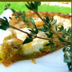 Tarte au pesto et à la ricotta Bagels, Ricotta, Cake Flan, Pesto, Quiches, Baked Potato, Mashed Potatoes, Veggies, Pizza