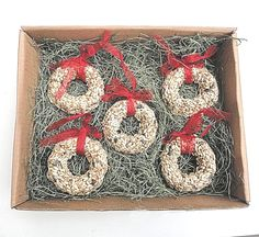 Nature Favors Unique Wedding Favors Party Favors Gifts - Bird Seed Christmas Wreath Ornament Gift Set, $29.95 (http://www.naturefavors.com/copy-of-bird-seed-christmas-ornament-gift-set/category)