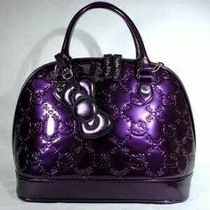 Purple  Loungefly Hello Kitty Handbag Embossed Acai for Women