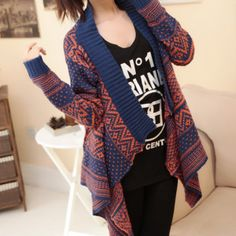 Fashion long-sleeved cardig..