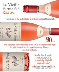 #LaVieilleFerme Rosé 2013 - 90 points - Wine Review Online