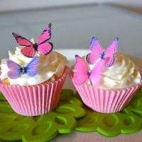 Edible Butterflies © - Small Assorted Pink And Purple Set Of 24 - Cake And Cupcake Toppers, Deco