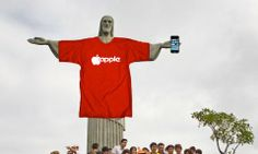 Rio sells ad rights for Christ statue to Apple.