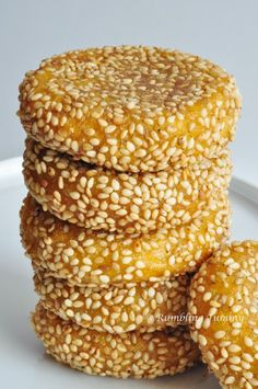 Rumpeln Tummy: Sesam Kürbis Pfannkuchen 芝麻 南瓜 餅
