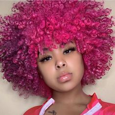 would you dye your hair this color ? Dyed Natural Hair, Pelo Natural, Natural Hair Tips, Dyed Hair, Natural Hair Styles, Natural Curls, Baddie Hairstyles, Cool Hairstyles, Print Image