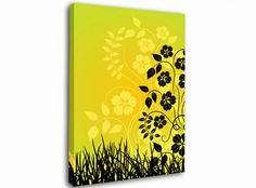Black Flowers in Yellow Sun floral canvas from only £19.99 at Infusion Art http://www.infusionart.co.uk/products/Black-Flowers-in-Yellow-Sun-251285.aspx