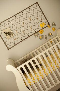 Gray & Yellow Elephant Nursery