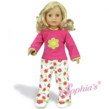 """Perfect pink pajamas that fit 18"""" american girl dolls. Use special discount code PIN10"""