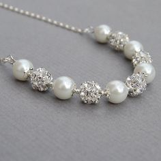 Bridal Jewelry Brides Pearl Jewelry White Pearl by AMIdesigns