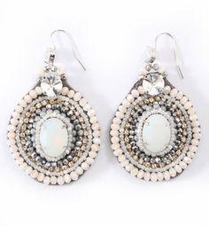 White circle earring / POPSUGAR Shopping: Rose Bud EARRING