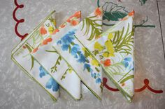 Retro Vera Floral Cotton-Polyester Blend Luncheon by FelicesFinds