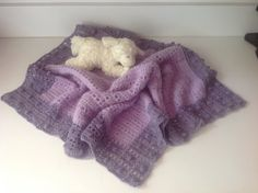 "Crochet Baby Blanket, 29"" x31"", lavender by Mywaycrochet on Etsy"
