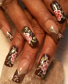 Elegant! Marble Nail Designs, Marble Nails, Nails Magazine, My Nails, Nailart, Hands, Elegant, Flower, Recipes