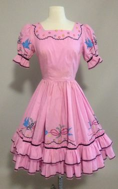 1950s Authentic Square Dance Dress Fashioned By Julia Hill