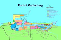 Port of Kaohsiung, Taiwan International Poerts Corpo-Overall Map Container Terminal, Taiwan, Army, Cartography, Gi Joe, Military